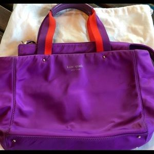 Kate Spade Purple Red Nylon Tote Bag